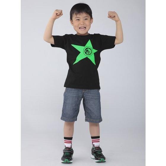 宇宙戦隊キュウレンジャー 「カメレオングリーン」なりきり風デザインTシャツ こども用