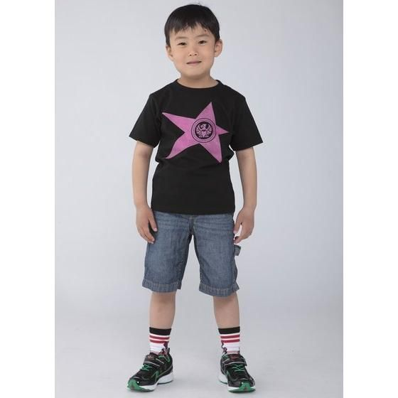 宇宙戦隊キュウレンジャー 「ワシピンク」なりきり風デザインTシャツ こども用