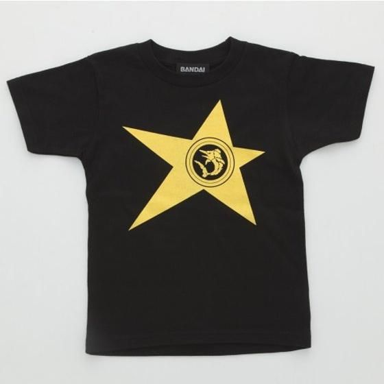 宇宙戦隊キュウレンジャー 「カジキイエロー」なりきり風デザインTシャツ こども用