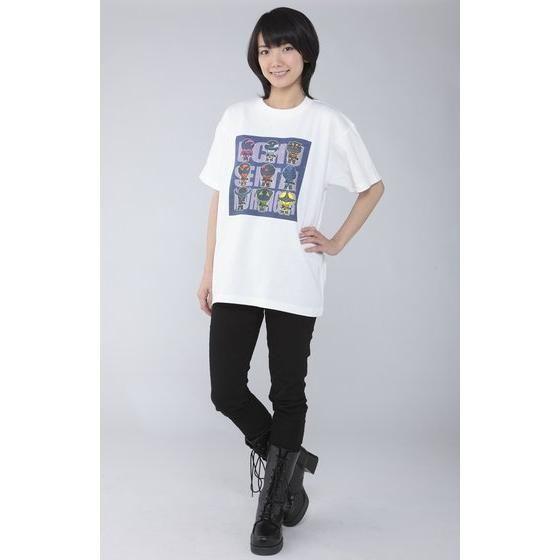 宇宙戦隊キュウレンジャー フルカラーデフォルメ柄Tシャツ 宇宙柄