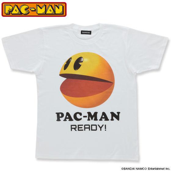 パックマン 大人用Tシャツ パックマン3D柄(ホワイト)