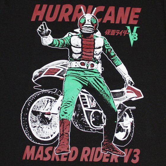 仮面ライダーTシャツ×ノルソルマニア コラボTシャツ 仮面ライダーV3ハリケーン柄
