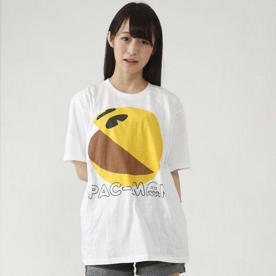 パックマン 大人用Tシャツ パックマン柄(ホワイト)