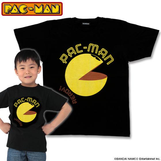 パックマン パックマン柄(ブラック)Tシャツ こども用