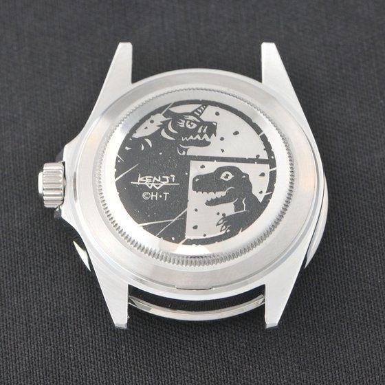 デジモンアドベンチャー OMEGAMON× Red Monkey Designs Collaboration  Wristwatch Silver925 High-End Model Black