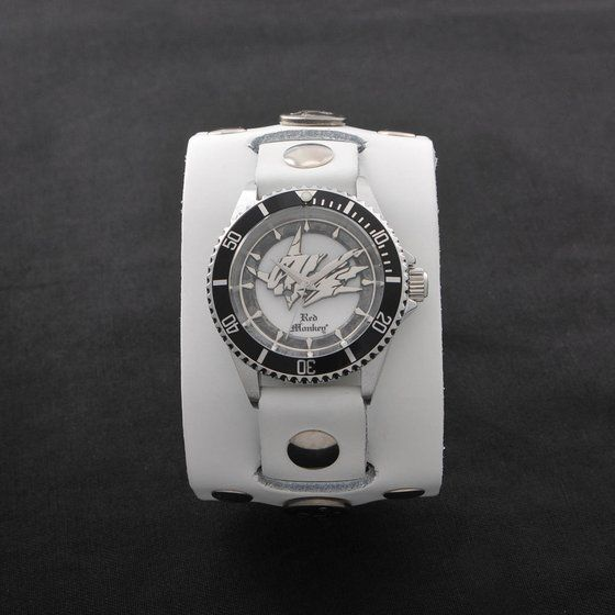 デジモンアドベンチャー OMEGAMON× Red Monkey Designs Wristwatch Silver925 High-End Model White【初回限定:2017年9月発送】
