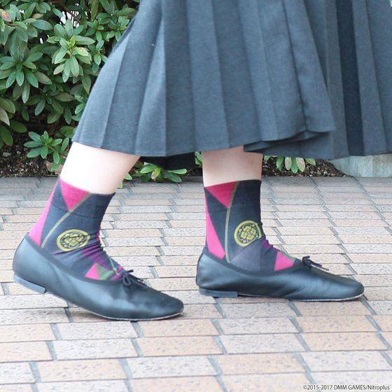 刀剣乱舞-ONLINE-×靴下屋 プリントソックス 加州清光モデル