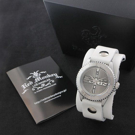 仮面ライダー555 × Red Monkey designs Collaboration Wristwatch Silver925 High-End Model