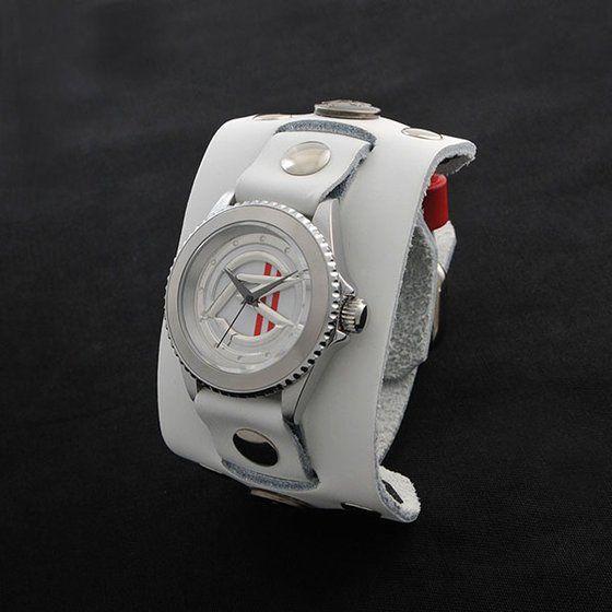 仮面ライダーマッハ× Red Monkey Designs Collaboration Wristwatch Silver925 High-End Model