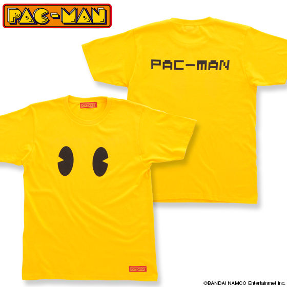 パックマン 顔柄 Tシャツ 大人用