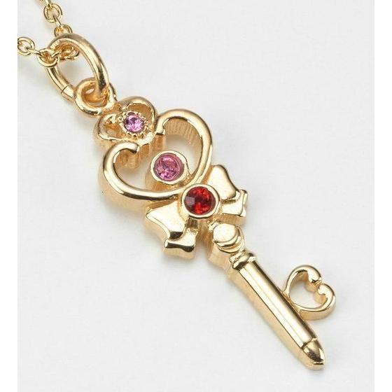 美少女戦士セーラームーン セーラープルート 時空の鍵 デザインsilver925ペンダント K18ゴールドコーティング【9月お届け】