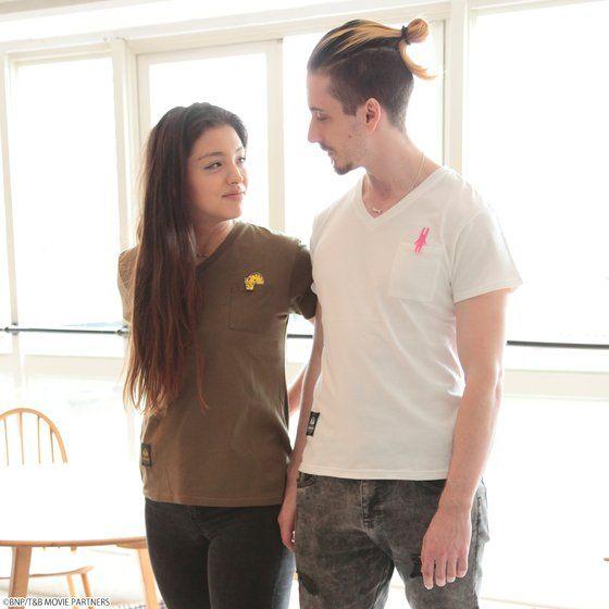 劇場版 TIGER & BUNNY -The Rising-  VネックワッペンTシャツ