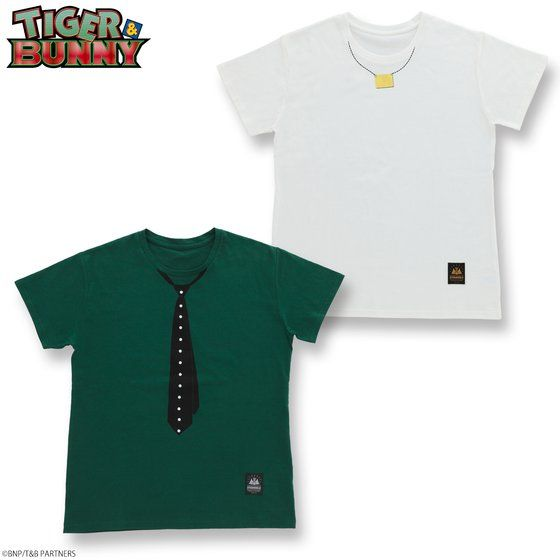 TIGER & BUNNY トロンプルイユTシャツ アニメ・キャラクターグッズ新作情報・予約開始速報