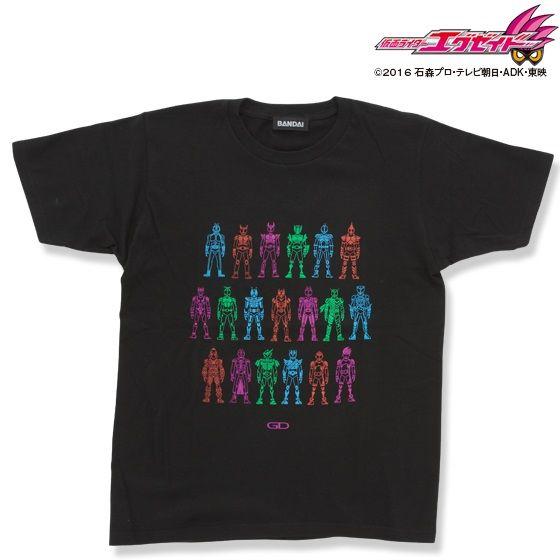 仮面ライダーエグゼイド&平成仮面ライダー ゲーマドライバーアイコン柄Tシャツ