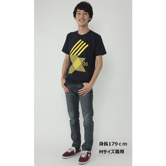 仮面ライダーエグゼイド 宝生永夢Tシャツ 幾何学 ネイビー
