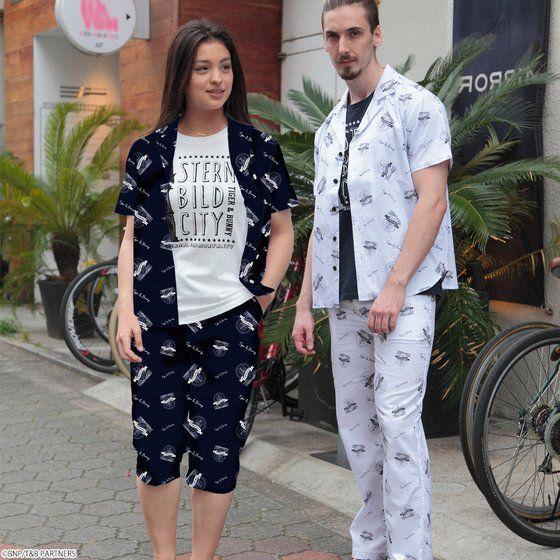 TIGER & BUNNY シュテルンビルト 女神像 アロハシャツ