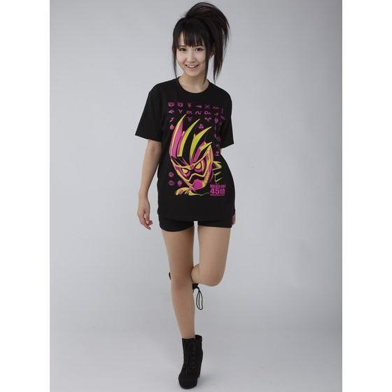 仮面ライダーシリーズ45周年記念 仮面ライダーエグゼイド&ライダーマークTシャツ