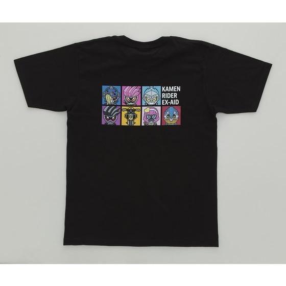仮面ライダーエグゼイド デフォルメ柄Tシャツ(黒)