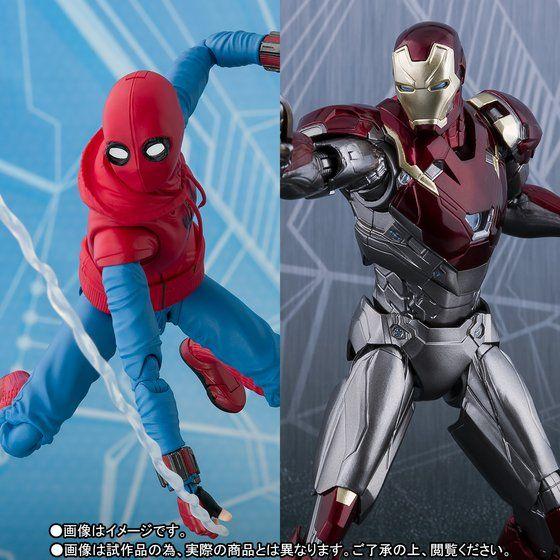 S.H.Figuarts スパイダーマン(ホームカミング) ホームメイドスーツver. & アイアンマン マーク47