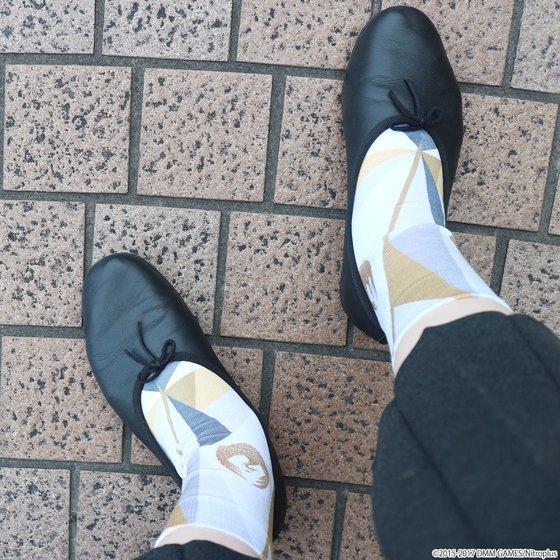 刀剣乱舞-ONLINE-×靴下屋 プリントソックス 鶴丸国永モデル【3次受注 2017年9月発送】