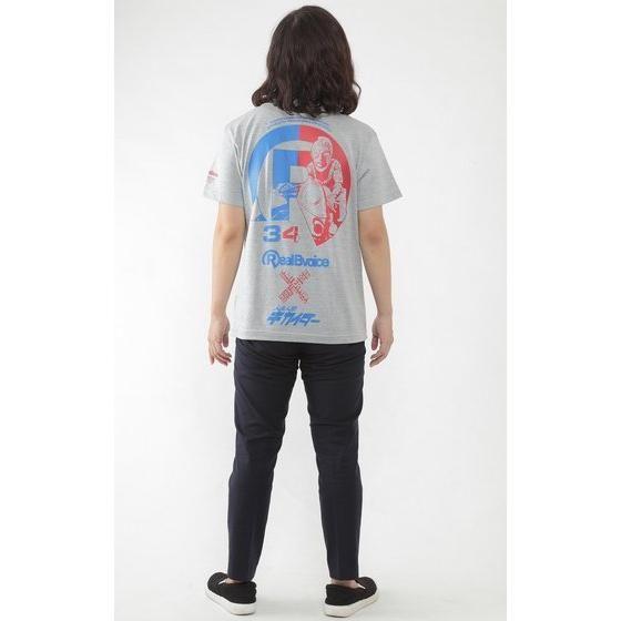 人造人間キカイダー×RealBvoice Tシャツ (杢グレー)