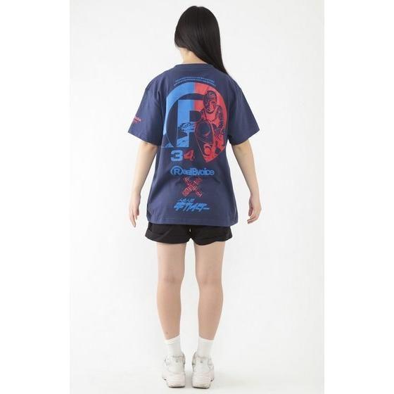 人造人間キカイダー×RealBvoice Tシャツ (ネイビー)