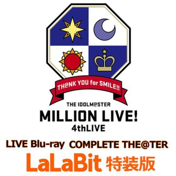 【送料無料】THE IDOLM@STER MILLION LIVE! 4thLIVE TH@NK YOU for SMILE!! LIVE Blu-ray COMPLETE THE@TER ララビット特装版