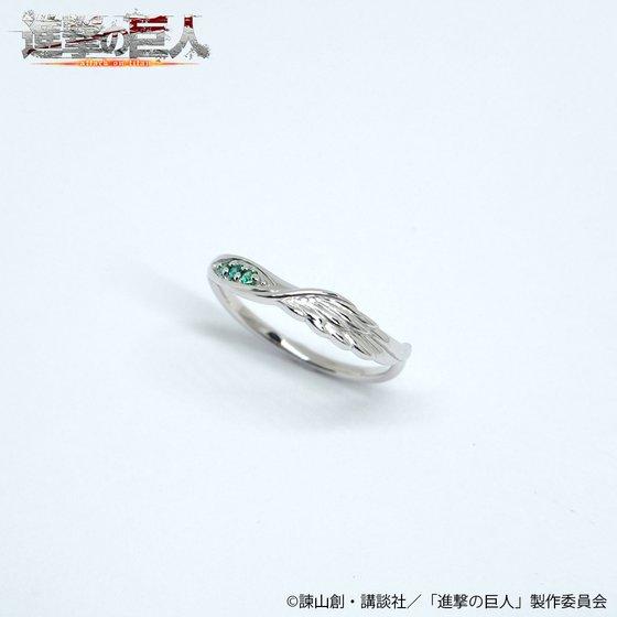 進撃の巨人×MATERIAL CROWN シルバーリング(エレンモデル)