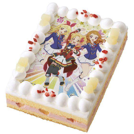 [キャラデコプリントケーキ]アイカツ!5周年記念ケーキ