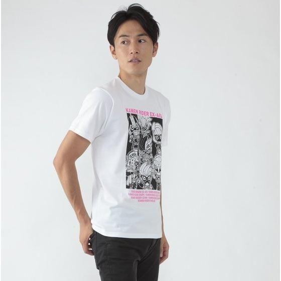 仮面ライダーエグゼイド デフォルメ集合Tシャツ(白)