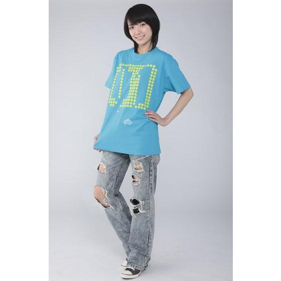 仮面ライダーエグゼイド 宝生永夢 Tシャツ 01柄 ターコイズブルー