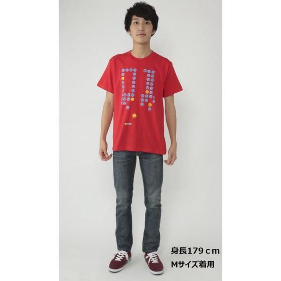 仮面ライダーエグゼイド 宝生永夢Tシャツ 01顔文字柄 赤