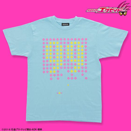 仮面ライダーエグゼイド 宝生永夢 Tシャツ 99柄 ライトブルー