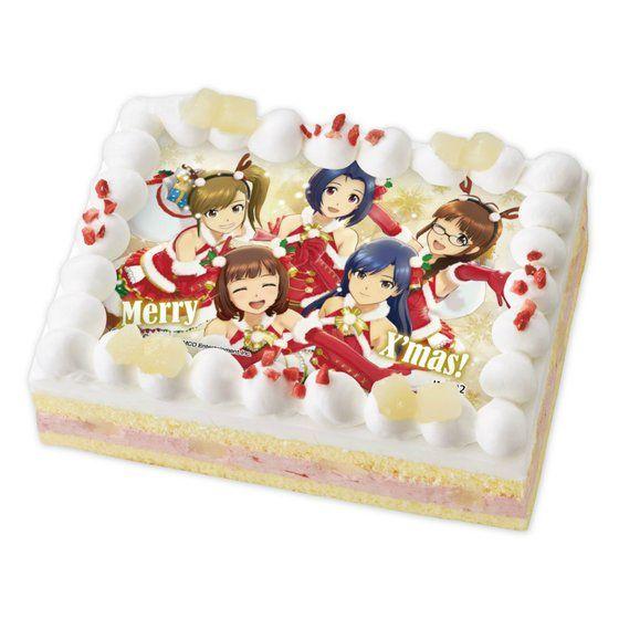 [キャラデコプリントケーキ クリスマス]アイドルマスター 春香・千早・律子・あずさ・真美