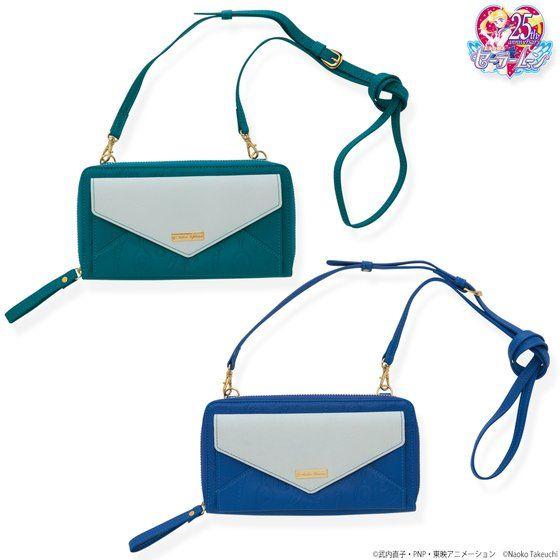 美少女戦士セーラームーン ウラヌス・ネプチューンレザーお財布ショルダーバッグ