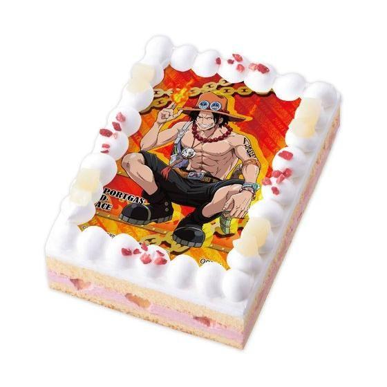 [キャラデコプリントケーキ] ONE PIECE エース