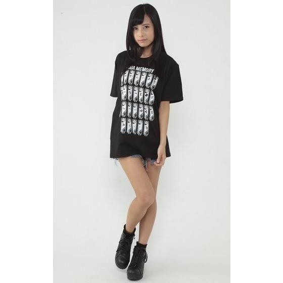 仮面ライダーW  ガイアメモリ柄Tシャツ A to Z柄