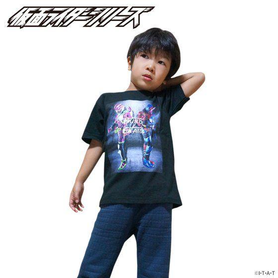 仮面ライダービルド&エグゼイド 2018年カレンダー付 Tシャツ こども用