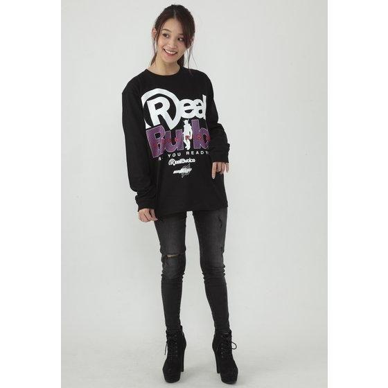 仮面ライダービルド×RealBvoice(リアルビーボイス) 長袖Tシャツ (黒)