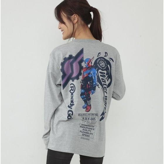 仮面ライダービルド×RealBvoice(リアルビーボイス) 長袖Tシャツ (杢グレー)