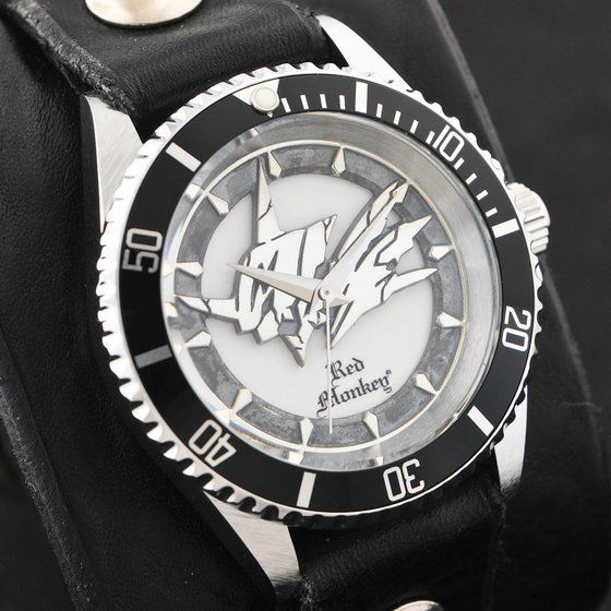 デジモンアドベンチャー OMEGAMON× Red Monkey Designs Wristwatch Silver925 High-End Model Black