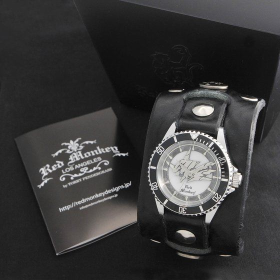 デジモンアドベンチャー OMEGAMON× Red Monkey Designs Wristwatch Silver925 High-End Model Black【2018年3月発送】