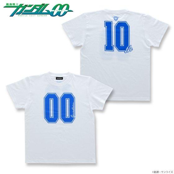 機動戦士ガンダム00 10th Tシャツ 白 【2018年2月発送】
