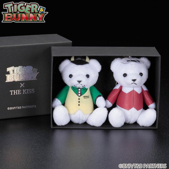 TIGER & BUNNY × THE KISS × BANDAI ベアマスコットチャーム付きネックレス バディセット