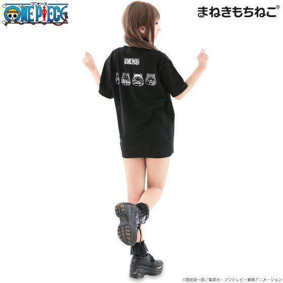 まねきもちねこ ワンピース Tシャツ 黒