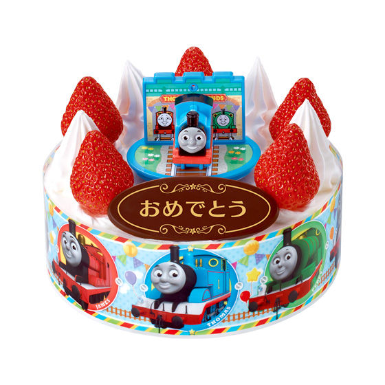キャラデコお祝いケーキ  きかんしゃトーマス
