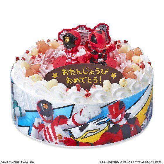 キャラデコお祝いケーキ 快盗戦隊ルパンレンジャーVS警察戦隊パトレンジャー(5号サイズ)