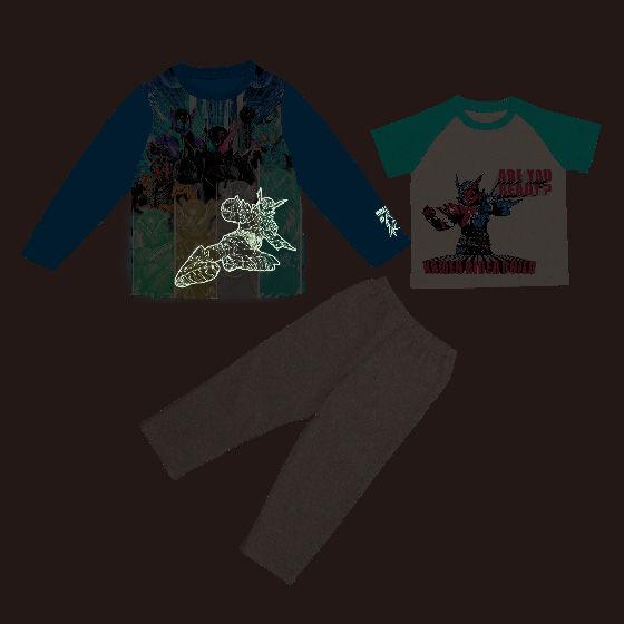 仮面ライダービルド 光る!2TOPSパジャマ