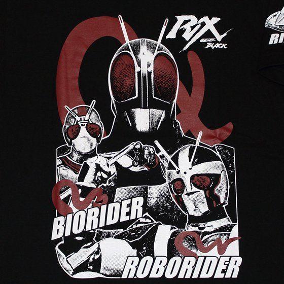 仮面ライダーTシャツ×ノルソルマニア コラボ Tシャツ(仮面ライダーBLACK RX)