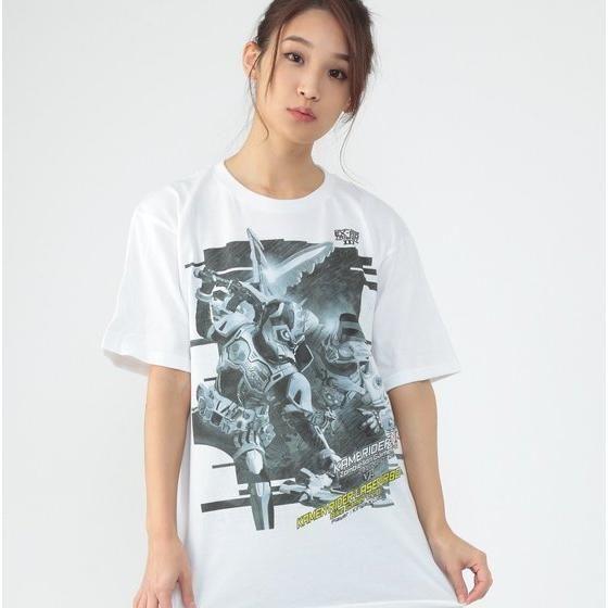 仮面ライダーエグゼイド トリロジー柄Tシャツ(モノトーン)仮面ライダーゲンムvsレーザー